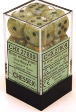 Chessex Chessex Marble Green/Dk Green Set of 12 D6 Dice