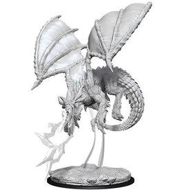 WizKids D&D Nolzur's Marvelous Unpainted Miniatures: W8 Young Blue Dragon