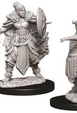WizKids D&D Nolzur's Marvelous Unpainted Miniatures: W9 Female Half-Orc Barbarian