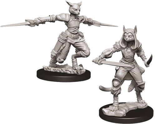 WizKids D&D Nolzur's Marvelous Unpainted Miniatures: W9 Female Tabaxi Rogue