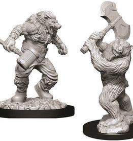 WizKids D&D Nolzur's Marvelous Unpainted Miniatures: W9 Wereboar & Werebear