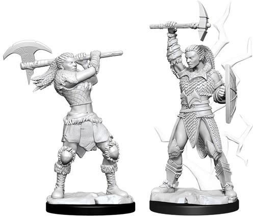 WizKids D&D Nolzur's Marvelous Unpainted Miniatures: W10 Female Goliath Barbarian