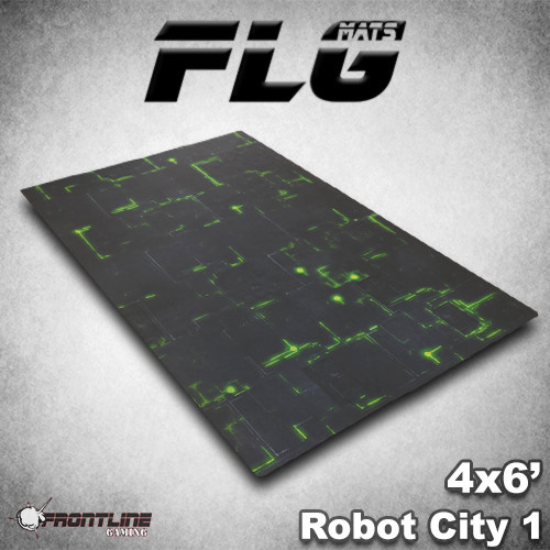 Frontline-Gaming FLG Mats: Robot City 1 6x4'