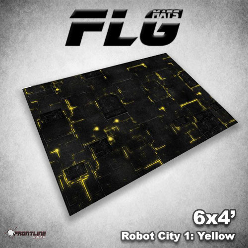 Frontline-Gaming FLG Mats: Robot City 1 6x4'