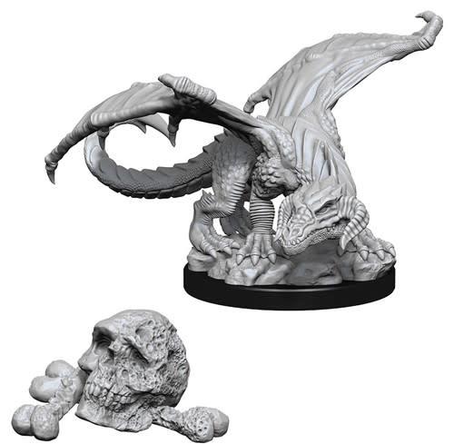 WizKids D&D Nolzur's Marvelous Unpainted Miniatures: W10 Black Dragon Wyrmling