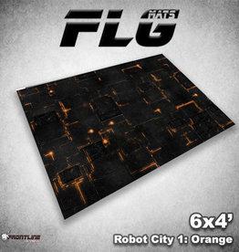 Frontline-Gaming FLG Mats: Robot City 1: Orange 6x4