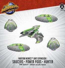 Privateer Press Monsterpocalypse: Martian Menace- Saucers, Power Pods & Hunter