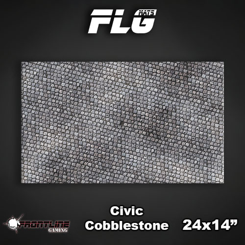 "Frontline-Gaming FLG Mats: Civic Cobblestone 24"" x 14"""