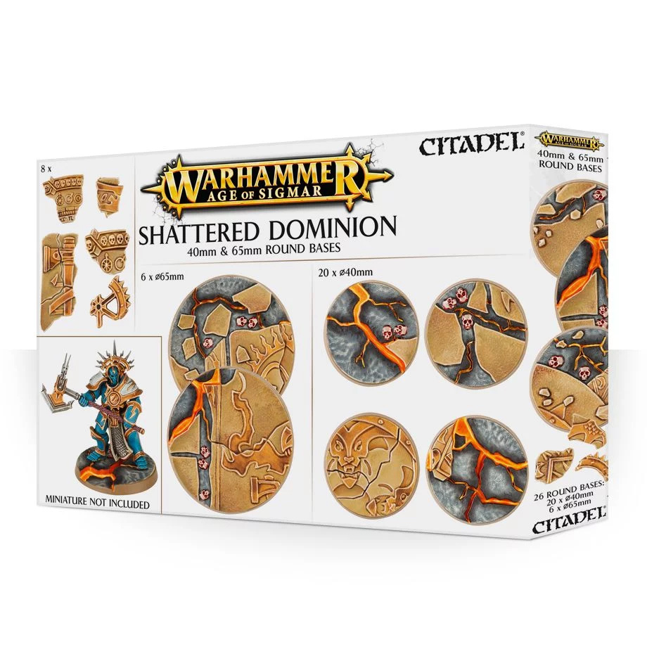Games-Workshop Aos: Shattered Dominion: 65 & 40Mm Round