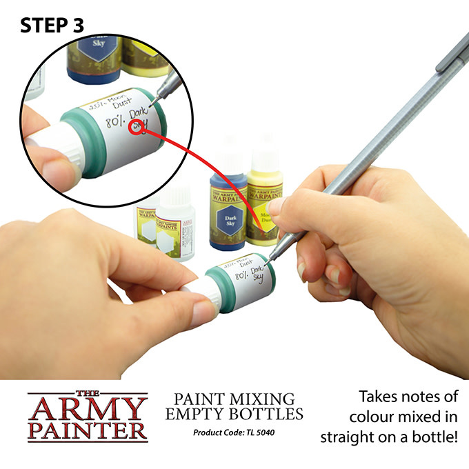The Army Painter Tool: Custom Paint Mixing Bottles