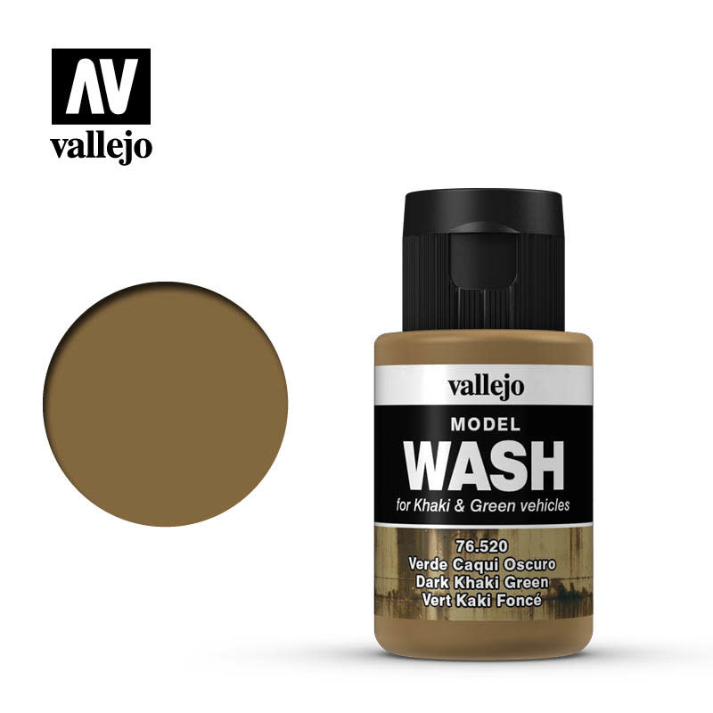 Vallejo Model Wash: Dark Khaki Green (35 ml)