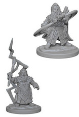 WizKids Pathfinder Deep Cuts Unpainted Miniatures: W4 Dwarf Male Sorcerer