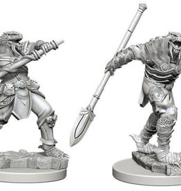 WizKids Dungeons & Dragons Nolzur`s Marvelous Unpainted Miniatures: W5 Dragonborn Male Fighter with Spear