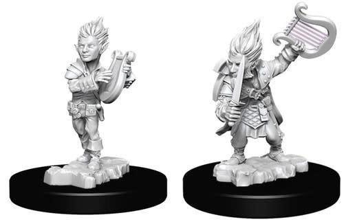WizKids Pathfinder Deep Cuts Unpainted Miniatures: W5 Gnome Male Bard