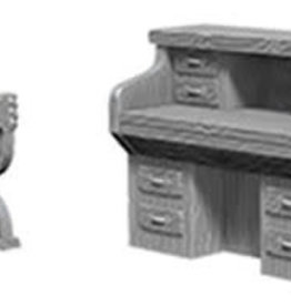 WizKids WizKids Deep Cuts Unpainted Miniatures: W5 Desk & Chair