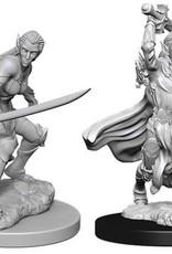 WizKids Dungeons & Dragons Nolzur`s Marvelous Unpainted Miniatures: W6 Female Elf Fighter