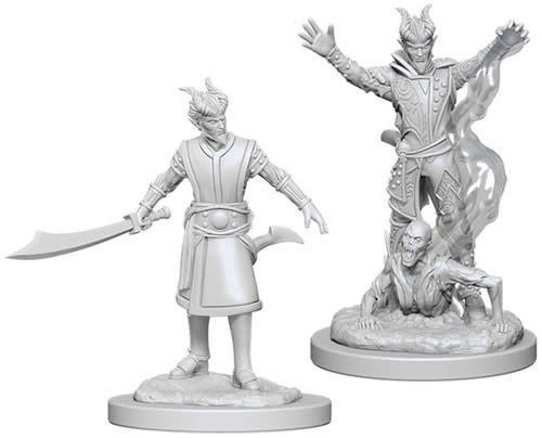 WizKids Dungeons & Dragons Nolzur`s Marvelous Unpainted Miniatures: W6 Male Tiefling Warlock