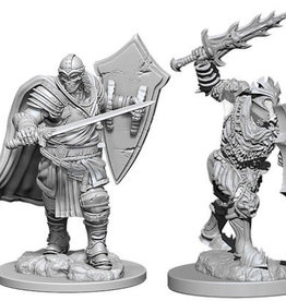 WizKids Dungeons & Dragons Nolzur`s Marvelous Unpainted Miniatures: W6 Death Knight & Helmed Horror