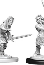 WizKids Pathfinder Deep Cuts Unpainted Miniatures: W6 Human Male Barbarian