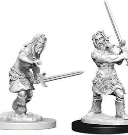 WizKids Pathfinder Deep Cuts Unpainted Miniatures: W6 Human Male Barbarian