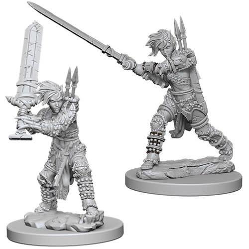 WizKids Pathfinder Deep Cuts Unpainted Miniatures: W6 Human Female Barbarian