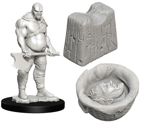 WizKids WizKids Deep Cuts Unpainted Miniatures: W6 Executioner & Chopping Block