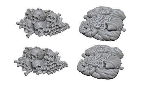 WizKids WizKids Deep Cuts Unpainted Miniatures: W6 Pile of Bones & Entrails