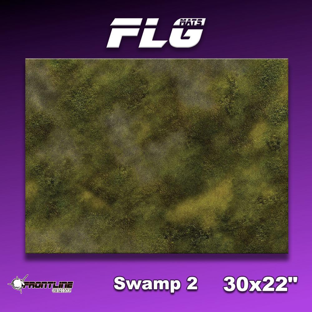 "Frontline-Gaming FLG Mats: Swamp 2 30"" x 22"""
