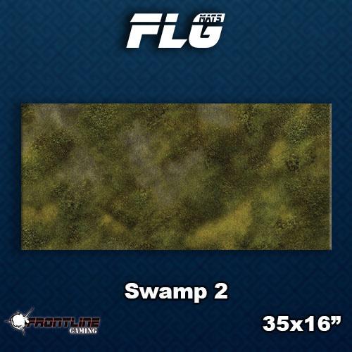 Frontline-Gaming FLG Mats: Swamp 2 Desk Mat