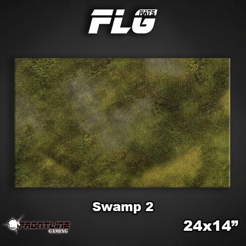 "Frontline-Gaming FLG Mats: Swamp 2 24"" x 14"""