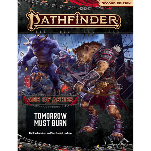 Pathfinder Pathfinder, Second Edition Adventure Path- Tomorrow Must Burn (Age of Ashes 3 of 6)