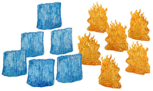 WizKids D&D Minis: Spell Effects- Wall of Fire & Wall of Ice