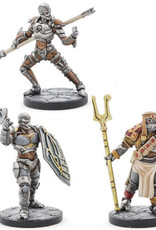 Gale Force 9 D&D Minis: Eberron- Warforged Cleric, Fighter & Monk