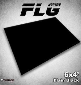 Frontline-Gaming FLG Mats: Plain Black 6x4'