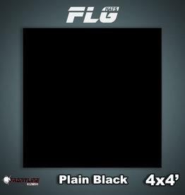 Frontline-Gaming FLG Mats: Plain Black 4x4'