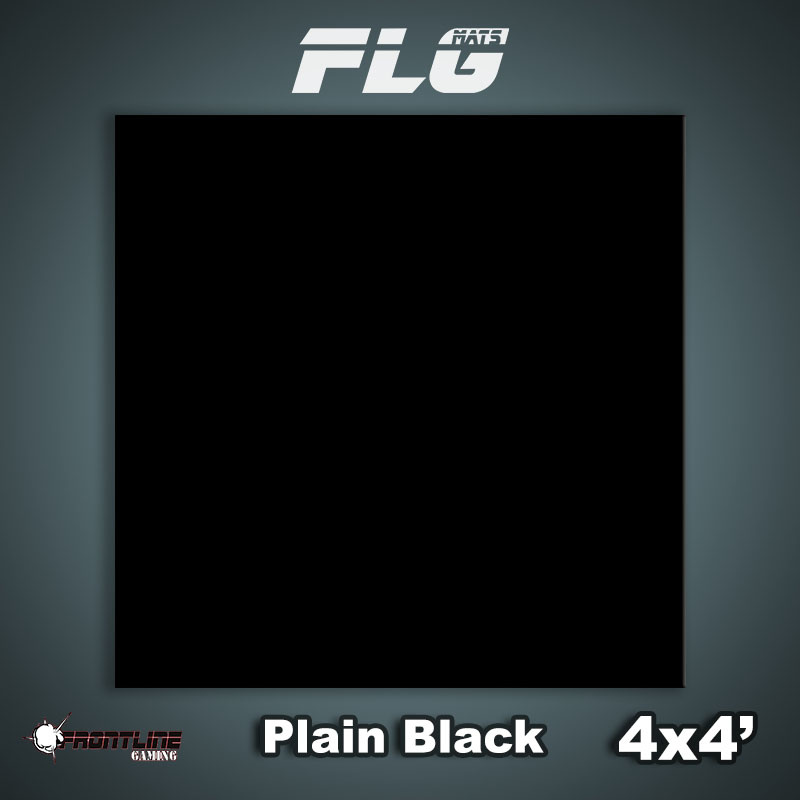 Frontline-Gaming FLG Mats: Plain Black 4x4'
