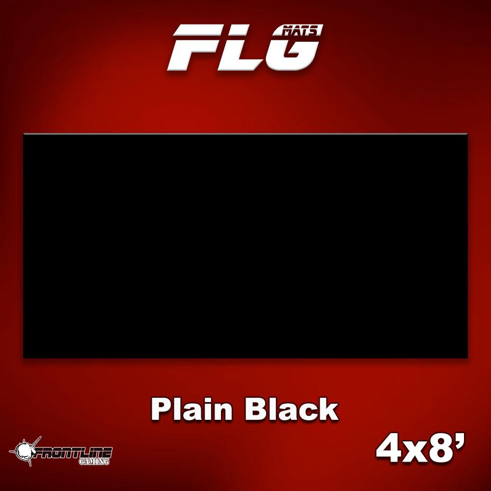 Frontline-Gaming FLG Mats: Plain Black 4x8'