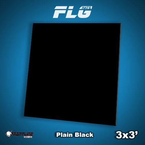 Frontline-Gaming FLG Mats: Plain Black 3x3'
