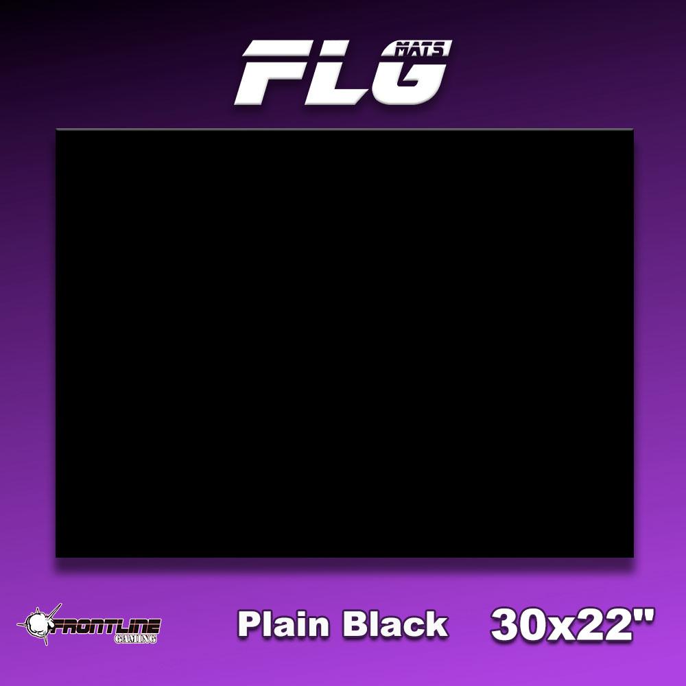 """Frontline-Gaming FLG Mats: Plain Black 30"""" x 22"""""""