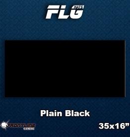 Frontline-Gaming FLG Mats: Plain Black Desk Mat