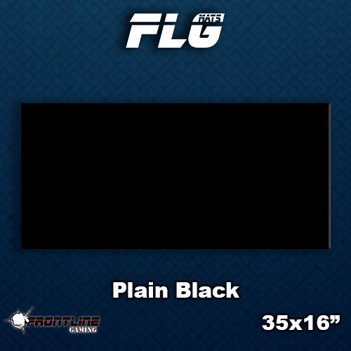 Frontline-Gaming FLG Mats: Plain Black Desk Mat