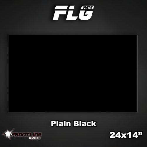 """Frontline-Gaming FLG Mats: Plain Black 24"""" x 14"""""""
