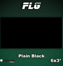 Frontline-Gaming FLG Mats: Plain Black 6x3'
