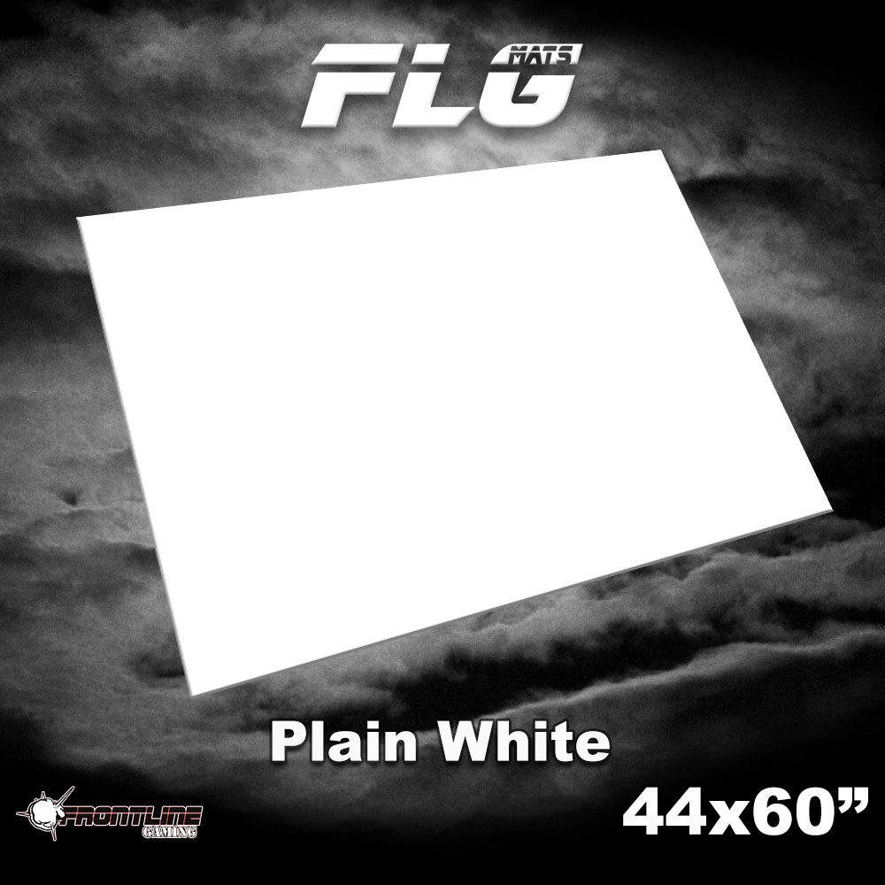 "Frontline-Gaming FLG Mats: Plain White 44"" x 60"""