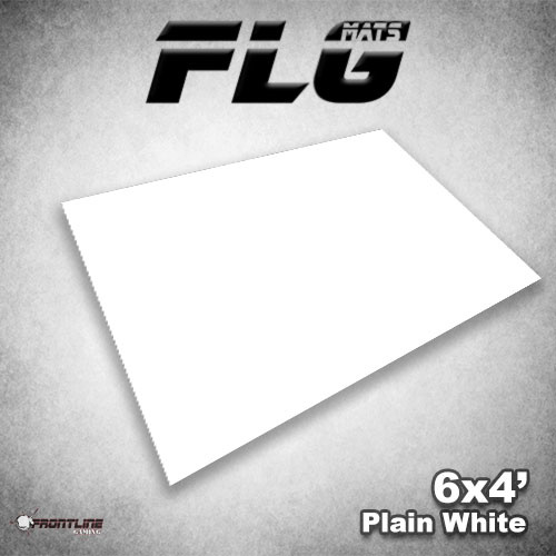 Frontline-Gaming FLG Mats: Plain White 6x4'