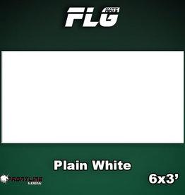 Frontline-Gaming FLG Mats: Plain White 6x3'