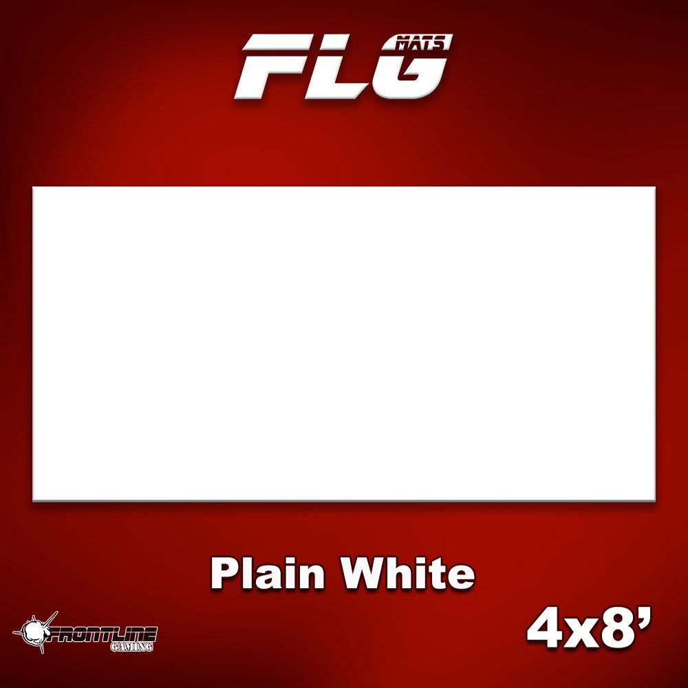 Frontline-Gaming FLG Mats: Plain White 4x8'