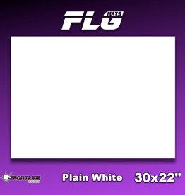 """Frontline-Gaming FLG Mats: Plain White 30"""" x 22"""""""