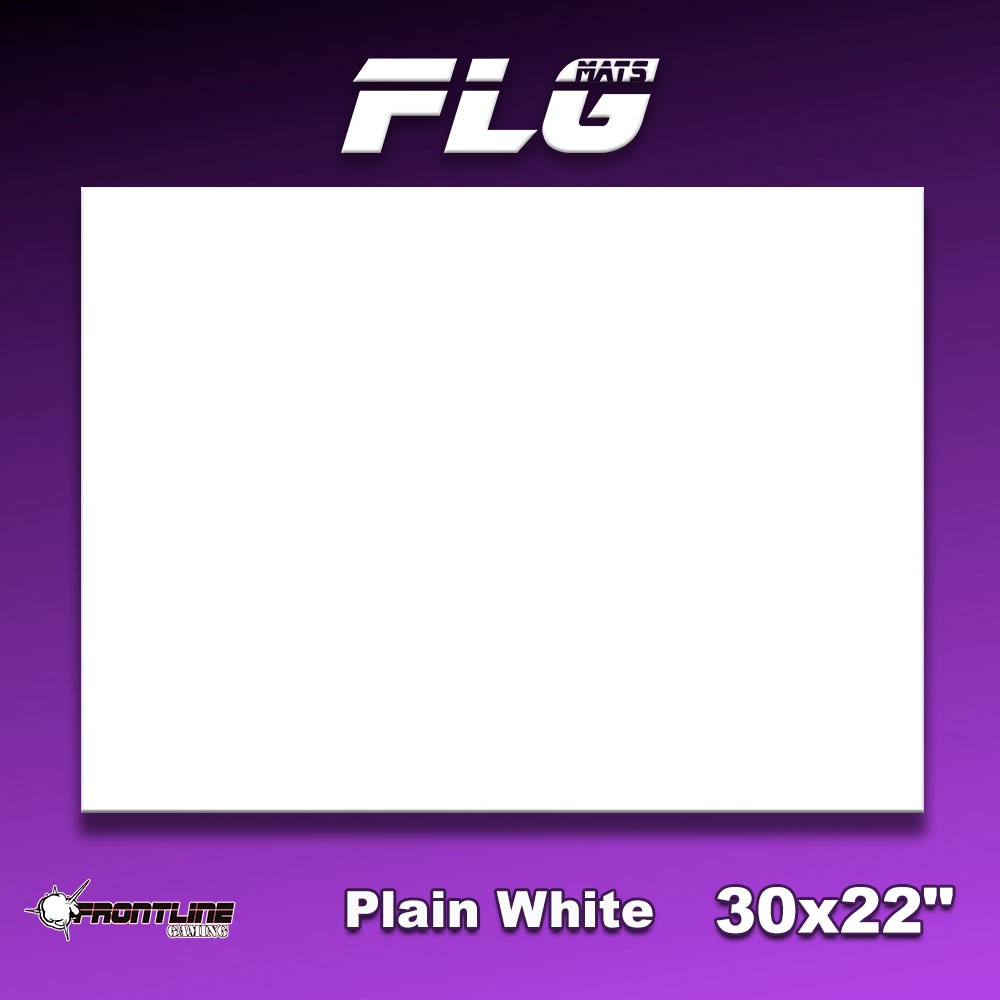 "Frontline-Gaming FLG Mats: Plain White 30"" x 22"""