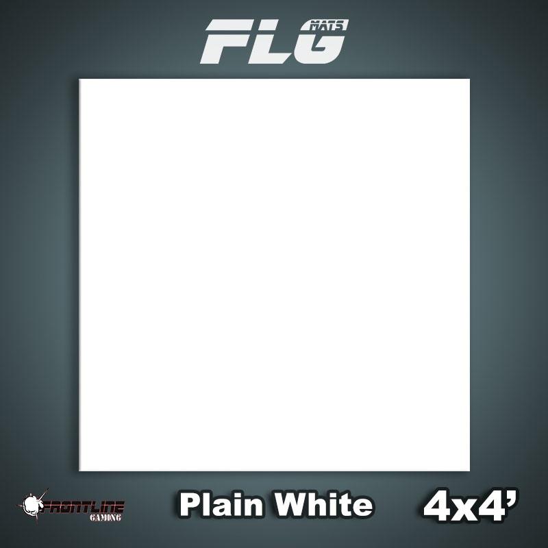Frontline-Gaming FLG Mats: Plain White 4x4'
